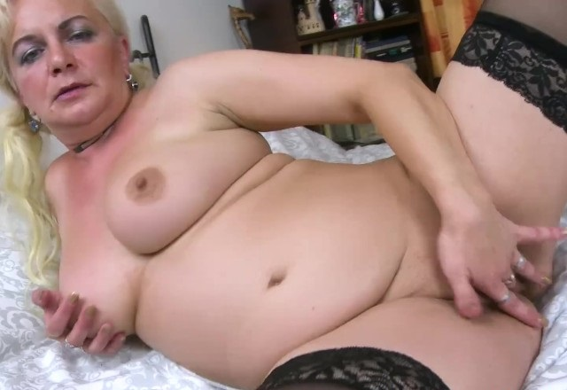 Busty Mature Blonde Solo Showoff