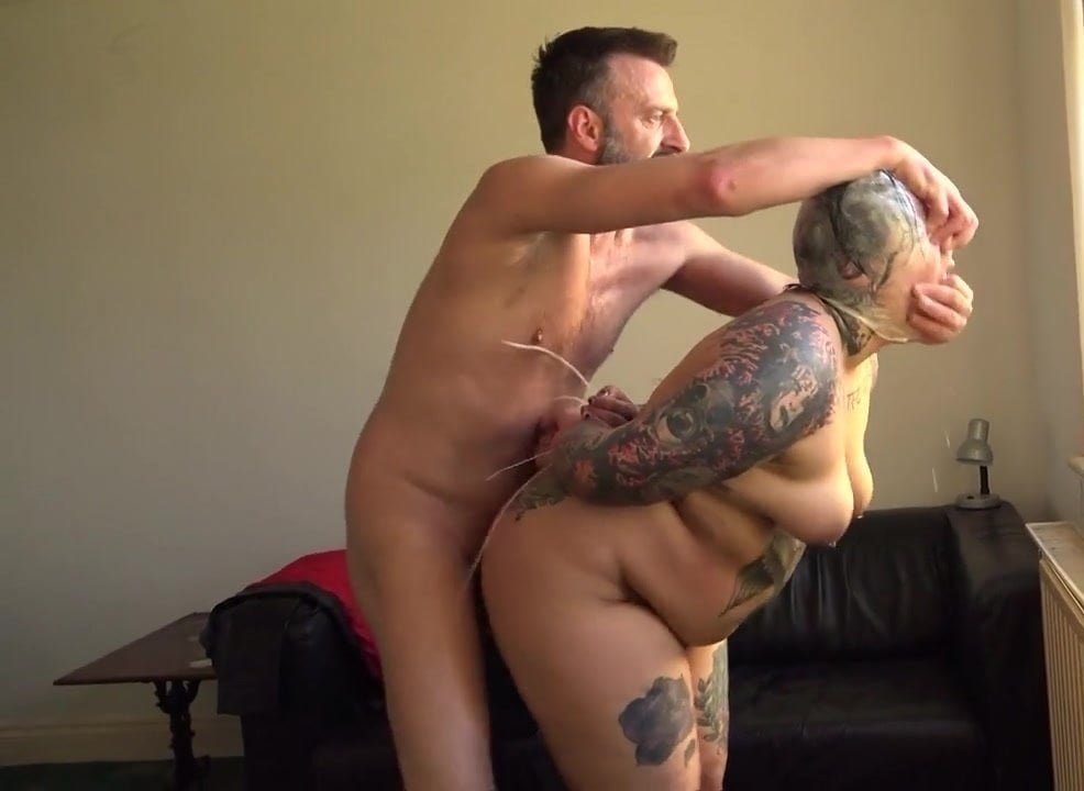 Inked Submissive BBW Hammered And Dominated Over