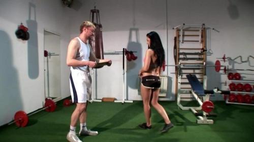 Female Boxer Gets Spanked Then Gives Handjob