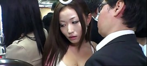 Hot, Japanese Babe Got Banged In The Bus While She Was Going Home From Work