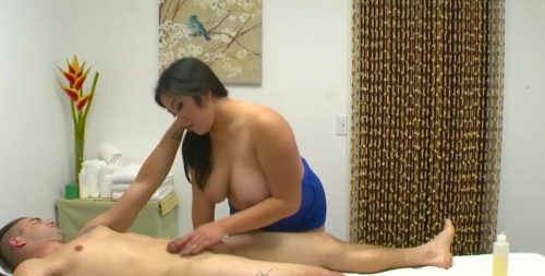 Chubby Girl Jasmine Gives A Massage And Happy Ending To Clien