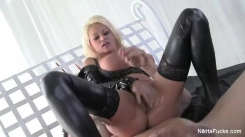 Nikita Von James Gets Fucked With A Big White Cock