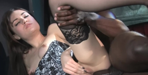 BDSM With Hot Young Sasha Grey & A Big Black Cock!