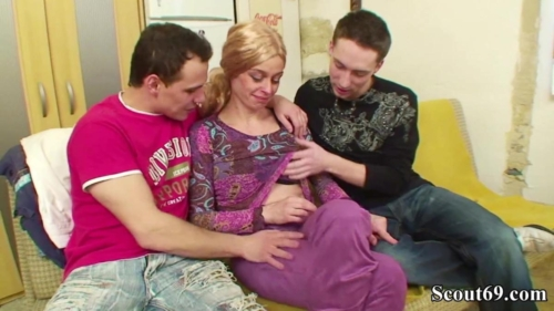 Two Young Boys Seduce Hairy Step Mom To Fuck Her Anal
