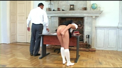 Schoolgirl Gets Spanked and Ass Fucked